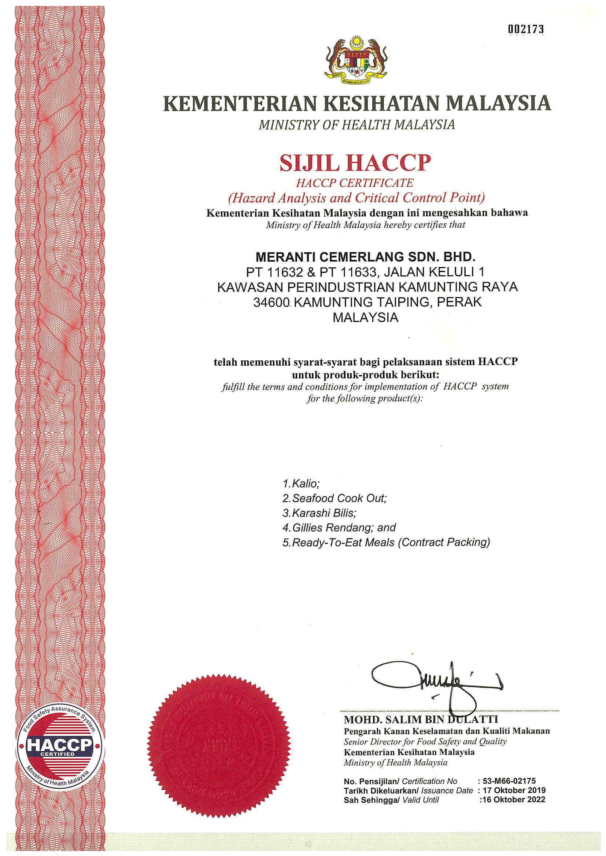 Sijil HACCP-1